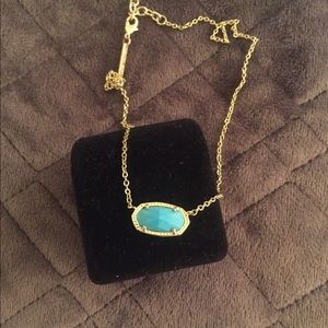 REAL turquoise Kendra Scott pendant!! Barely worn!